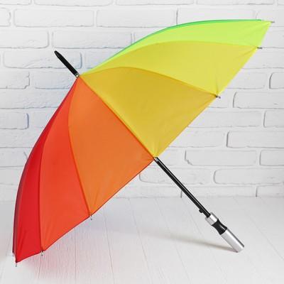 Зонт полуавтоматический «Радуга», 16 спиц, R = 46 см, разноцветный
