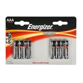 Батарейка алкалиновая Energizer, ААА, LR3-8BL, блистер, 8 шт Ош