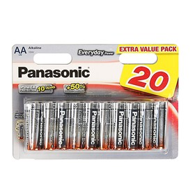 Батарейка алкалиновая Panasonic Everyday Power, AA, LR6-20BL, 1.5В, блистер, 20 шт.