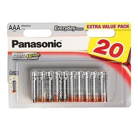 Батарейка алкалиновая Panasonic Everyday, ААА, LR6-20BL, блистер, 20 шт Ош