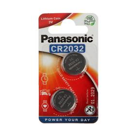 Батарейка литиевая Panasonic Lithium Power, CR2032-2BL, 3В, блистер, 2 шт