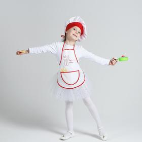"""A set of""""cook with posudka""""apron,hat,utensils,P32-36,growth 122-134 3505173"""