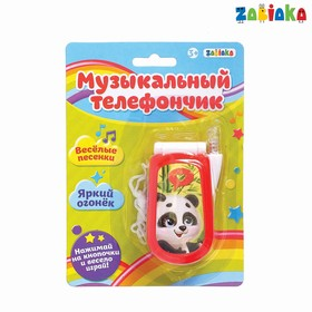 Музыкальный телефон «Панда», звуковые эффекты, работает от батареек, МИКС