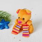 """Мягкая игрушка-брелок """"Хрюша"""" полосатый шарф, цвета микс"""