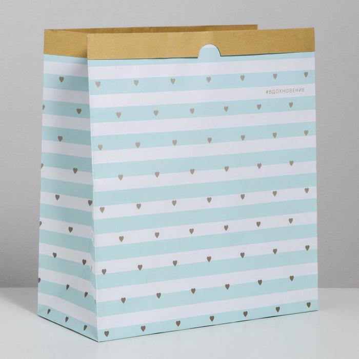 Пакет крафтовый «Вдохновение», 32 х 36 х 16 см