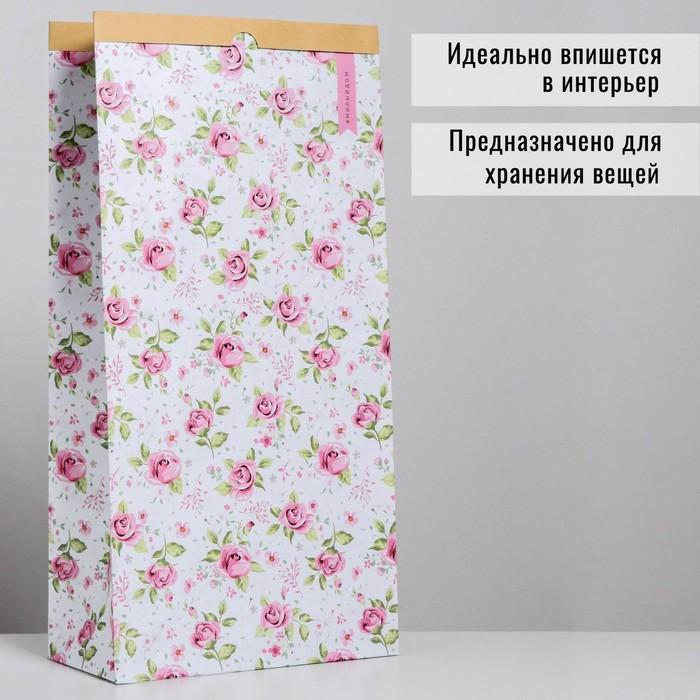 Пакет крафтовый «Милый дом», 32 х 64 х 16 см