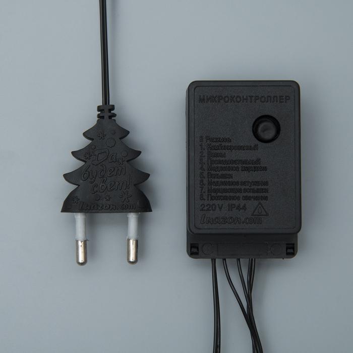 НИТЬ, 10 м, Н.Т. LED-100-220V, 8 режимов, СИНИЙ