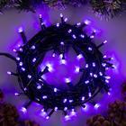 """Гирлянда """"Нить"""", 10 м, LED-100-220V, 8 режимов, свечение фиолетовое"""