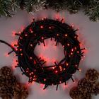"""Гирлянда """"Нить"""", 20 м, LED-200-220V, 8 режимов, нить тёмная, свечение красное"""