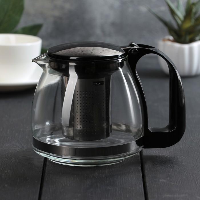 """Чайник заварочный 700 мл """"Джонни"""", цвет чёрный"""