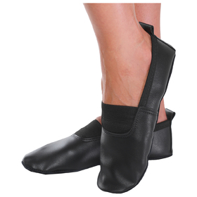 Gym shoes real leather, color black, length of the insole 16.5 cm