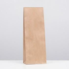 Пакет крафт бумажный фасовочный, прямоугольное дно 12 х 8 х 33 см Ош