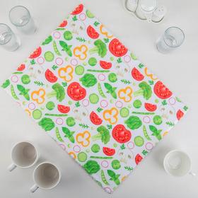"Коврик для сушки посуды 38×50 см ""Овощи"", микрофибра"