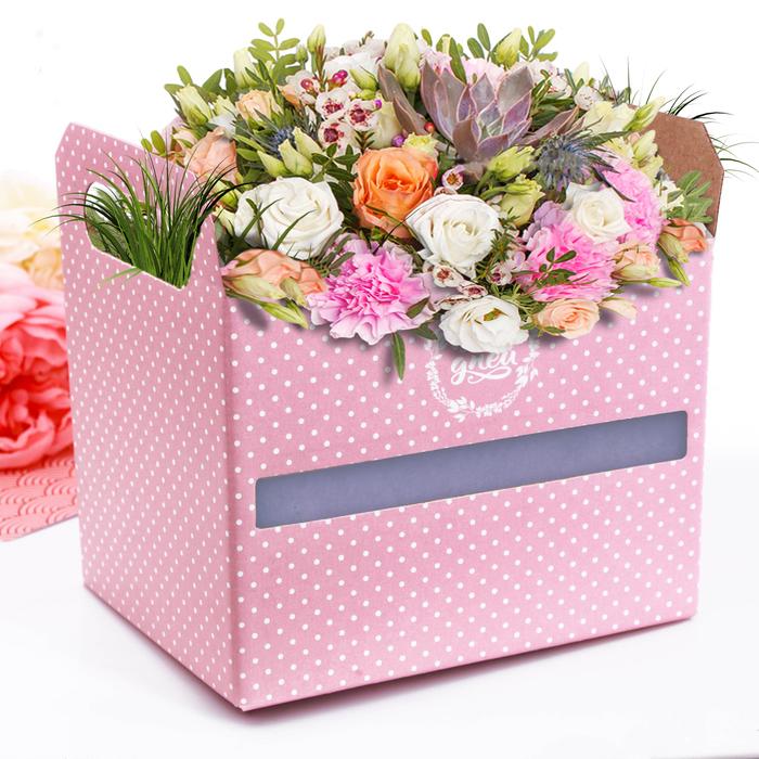 Коробка‒ящик «Счастливых дней», 19,3 × 14,5 × 15 см