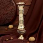 "Интерьерный сувенир ваза ""Райский сад"" латунь, 7,5х7,5х24 см"