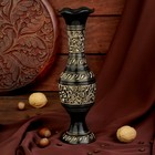 """Интерьерный сувенир ваза """"Симфония"""" латунь, 7,5х7,5х24 см"""