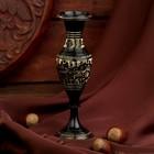 "Интерьерный сувенир ваза ""Сказка"" латунь, 4,5х4,5х14 см"