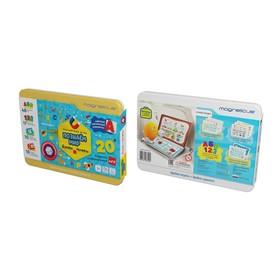 Игровой набор «Буквы и цифры», в металлической коробке