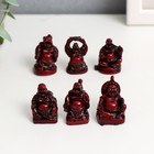 "Netsuke wood ""khotey"" 3.5 cm (set of 6 PCs)"