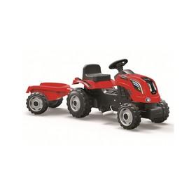 Трактор педальный Smoby с прицепом XL, красный