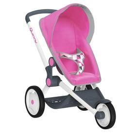 Коляска для кукол MC&Quinny трехколесная, розовая