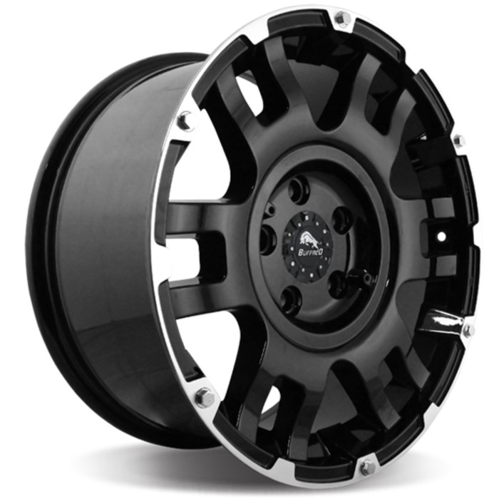 Диск литой BUFFALO BW-004 9x20 6x139.7 ET18 D106.3 Gloss-Black-Machined-Face