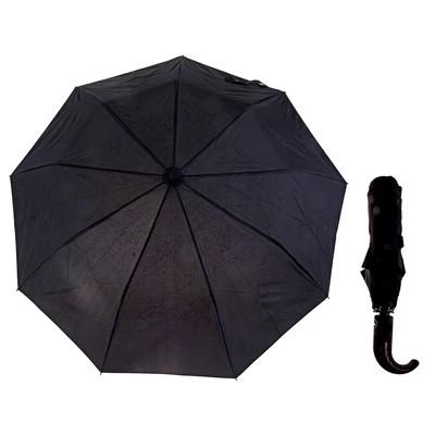 """Зонт полуавтоматический """"Однотонный"""", R=55см, цвет чёрный"""