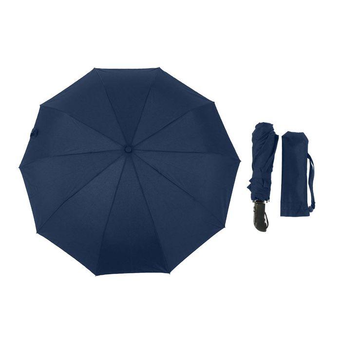 """Зонт полуавтоматический """"Однотонный"""", R=55см, цвет тёмно-синий"""