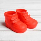 "Boots for dolls ""Velcro"", length of sole 7.5 cm, 1 pair, color red"