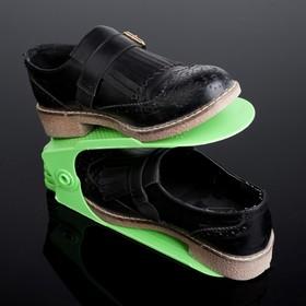 Подставка для хранения обуви регулируемая, 25×17×9 см, цвет МИКС - фото 4643492