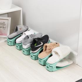 Подставка для хранения обуви регулируемая, 25×17×9 см, цвет МИКС - фото 4643503