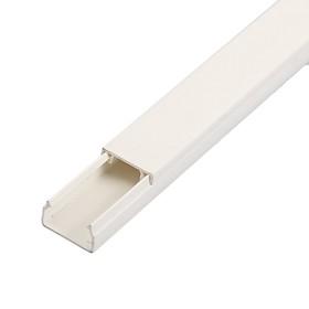 Cable channel IEK ECOLINE, 15x10 mm, L = 2 m, plastic, white