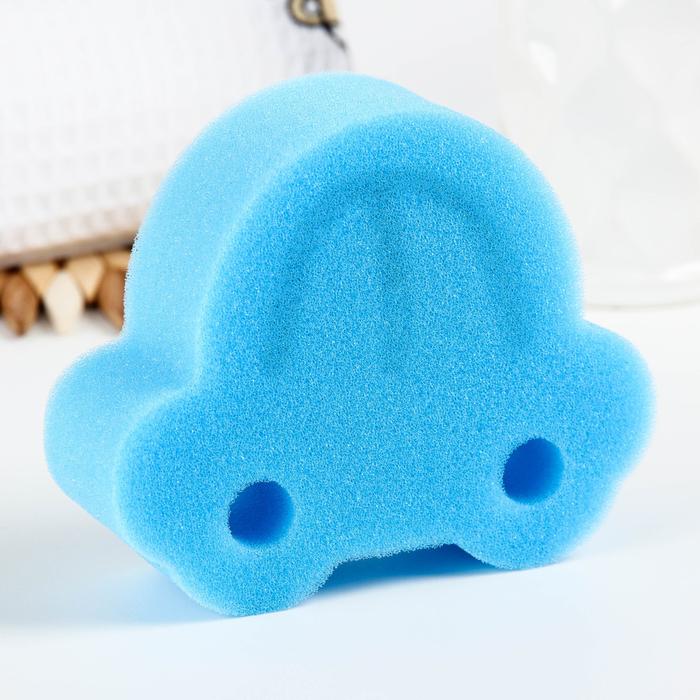 Игрушка для купания детская: губка - мочалка «Машинка»
