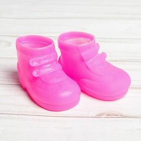 Ботинки для куклы «Липучки», длина подошвы: 7,5 см, 1 пара, цвет фуксия