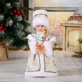 """Снегурочка """"Кристалл, белая"""" двигается, 28 см"""