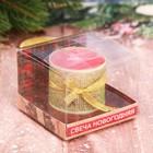 """Подарочная свеча новогодняя с декором """"Тепла и уюта"""""""