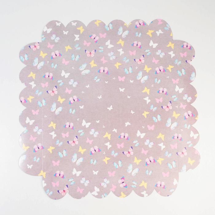 Коробка подарочная с PVC-крышкой «Легкости!», 35 × 35 × 6 см - фото 308984938