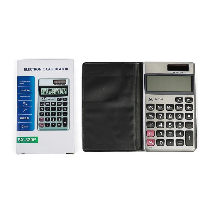 Калькулятор карманный, 12-разрядный, двойное питание - фото 438352851