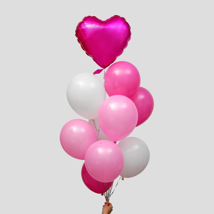 """Фонтан из шаров """"Это любовь"""", латекс, фольга, 10 шт."""