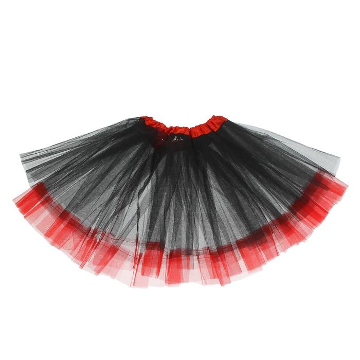 Карнавальная юбка «Кокетка», 2-х слойная, 4-6 лет, цвет чёрный