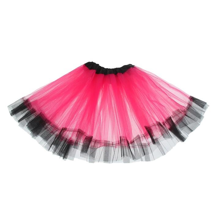 Карнавальная юбка «Кокетка», 2-х слойная, 4-6 лет, цвет розовый