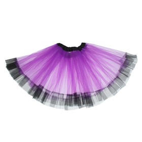"Carnival skirt ""Flirty"" 2-layer 4-6 years, color purple"