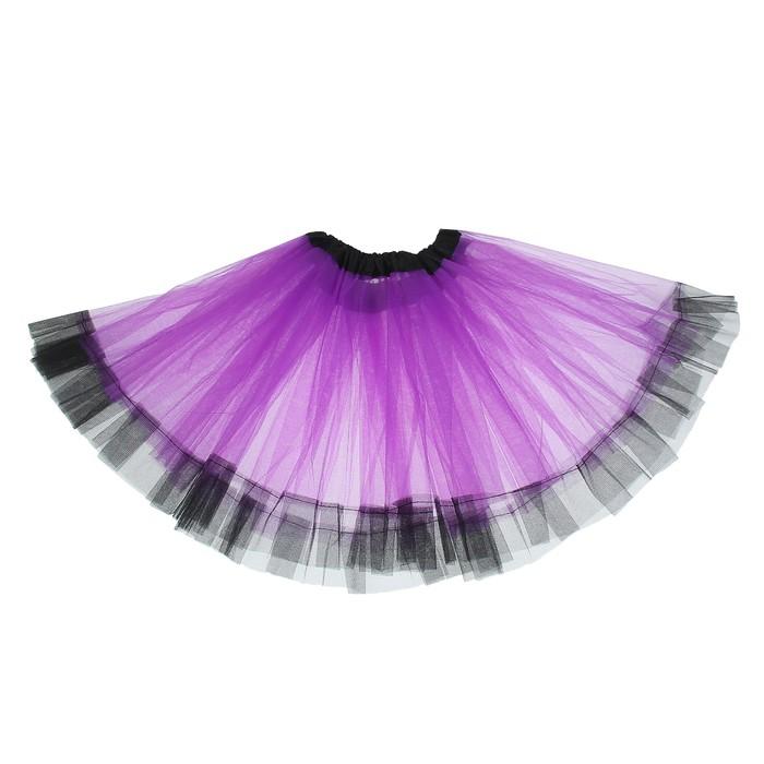 Карнавальная юбка «Кокетка», 2-х слойная, 4-6 лет, цвет фиолетовый - фото 452216