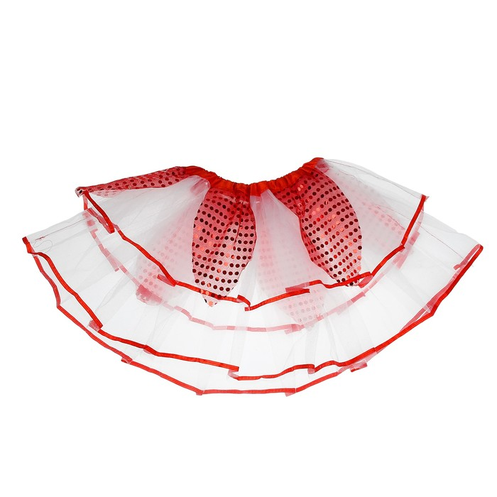 Карнавальная юбка «Цветочек», 2-х слойная, 4-6 лет, цвет красный
