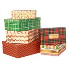 Набор подарочных коробок 6 в 1 «Клетка», 22,5 × 12,5 × 7,5 ‒ 34,5 × 25 × 12,5 с
