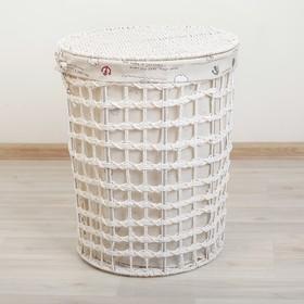 Корзина универсальная плетёная Доляна «Море», 34×34×44 см, цвет белый