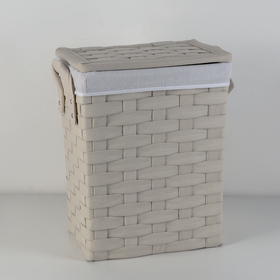 Корзина универсальная плетёная Laundry, 45×28×49 см, цвет молочный
