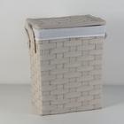Корзина универсальная плетёная Laundry, 51×34×56 см, цвет молочный
