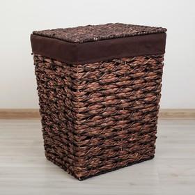 Корзина универсальная плетёная Доляна «Классика», 45×36×55 см, большая, цвет коричневый