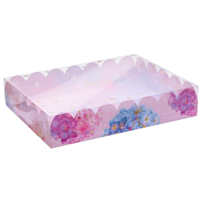 Коробка подарочная с PVC-крышкой «Ты чудесна», 30 × 40 × 8 см - фото 308984950